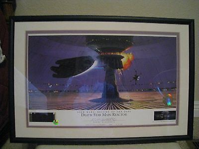DEATH STAR MAIN REACTOR #892 STAR WARS  Ralph McQuarrie signed Lithograph