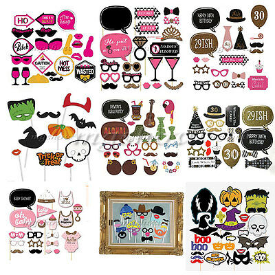 New DIY 20/60pcs Photo Booth Props Mustache on A Stick Weddings Birthday Party