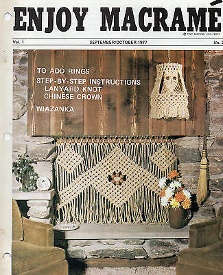 """enjoy Macrame"" Booklet--Fireplace Screen & Swag Light"