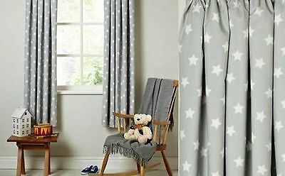 LUXURY TAB TOP CURTAINS Nursery Baby Room SET 2PCS 125x150cm or 125x180cm COTTON