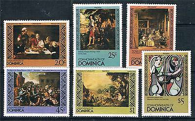 Dominica 1980 Famous Paintings SG 715/20 MNH