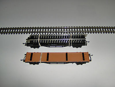 Triang  Hornby  Bogie Bolster Wagon Lot Of 2