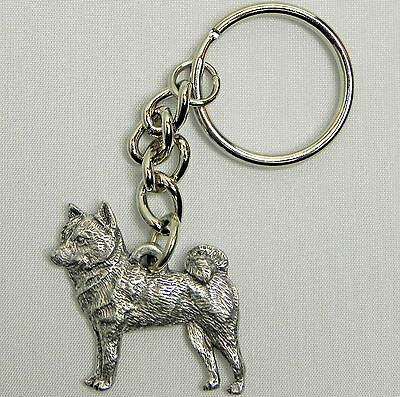 Shiba Inu Dog Keychain Keyring Harris Pewter Made USA Key Chain