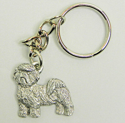 Shih Tzu Dog Keychain Keyring Harris Pewter Made USA Key Chain