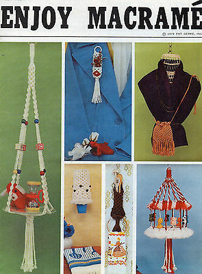 """enjoy Macrame"" Booklet--Table, Hangers, Purse"