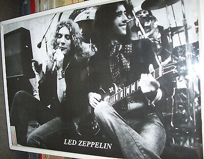 Led Zeppelin Plant Page Stage Shot Poster New  !