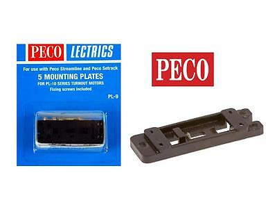 Peco PL-9  Turnout Mounting Plates OO/HO Gauge Pack of 5