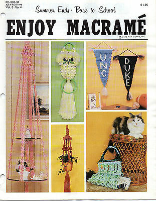 """enjoy Macrame"" Booklet--Summer Ends"