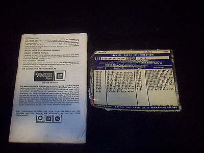 1983 Chevrolet S-10 Pickup Truck Owners Manual With Option Tag