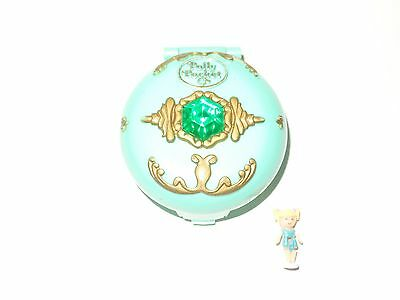 Vintage 1992 Bluebird Polly Pocket * JEWELED Mushroom FOREST compact and Scamper