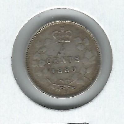 Canada 5 cents 1880-H F/VF