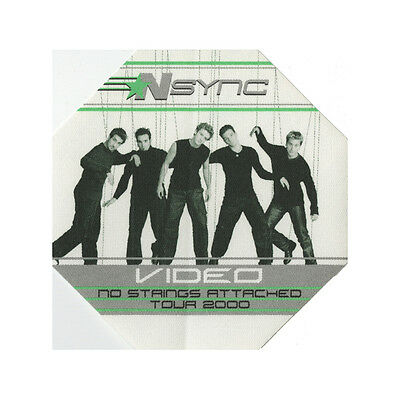 NSYNC authentic Video 2000 tour Backstage Pass