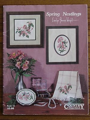 Cross Stitch Pattern Book - Spring Nestlings Book 33 Country Birds Flowers