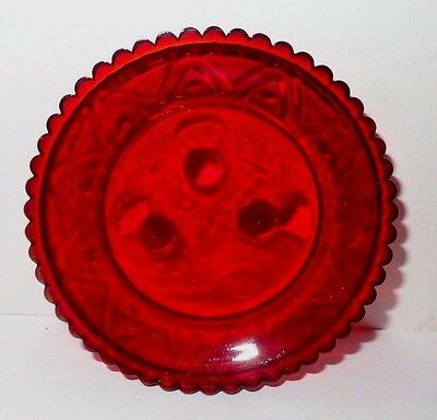 Cir 1970 Pairpoint Thistle Ruby Red Cup Plate