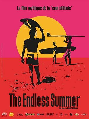 Affiche 40x60cm THE ENDLESS SUMMER (1966) Bruce Brown - Documentaire R2016 NEUVE