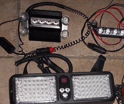 Lot Of Led & Halogen Emergency Lights/police/fire/**free Shipping**