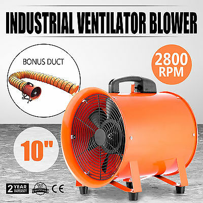 Portable Industrial Ventilator Axial Blower Workshop Extractor Fan With Duct