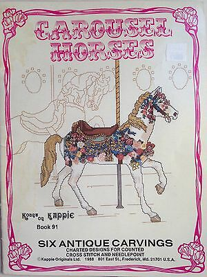 Carousel Horses. Counted Cross Stitch Design Book