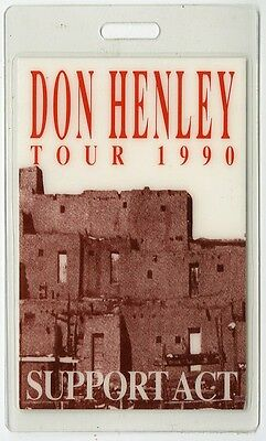 Don Henley authentic 1990 tour Laminated Backstage Pass