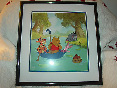 """Disney Sericel """"Pooh's Hunny Hunt"""" featuring Pooh, Tigger, Piglet, and Eeyore"""