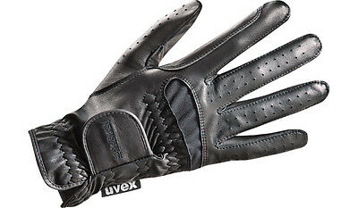 Uvex Riding gloves twinflex black Leather Stretch Insert touch screen capable