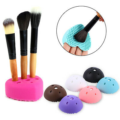 NEW Silicone Cleaning Egg For Washing Makeup Brush Scrubber Board Tools