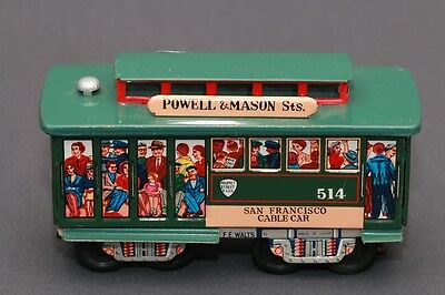 1960's Vintage F.E Walts Made In Japan Tin San Francisco Cable Car Toy