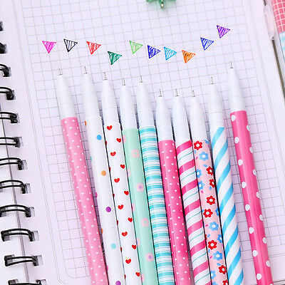 Kawaii Korean Stationery Stationery Watercolor Pen Gel Pens Set 10pcs Color New
