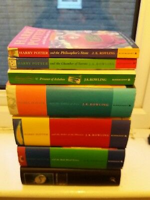 set of 7 harry potter books 4 first editions