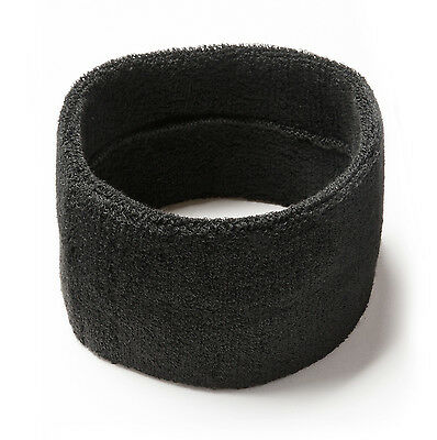 Large thick terry towelling sweat headband for all sports.