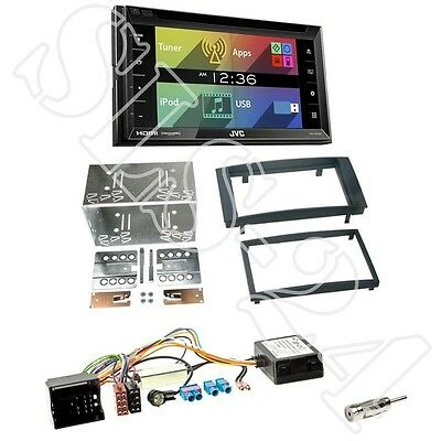 JVC KW-V620BT Autoradio + VW Touareg/T5 2-DIN Radioblende black +Can-Bus Adapter