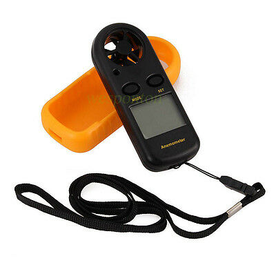 LCD Digital Handheld Anemometer Wind Speed Velocity Meter Thermomoter Sailing