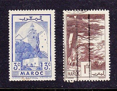 Morocco 1939 SG216 mint & 233 used