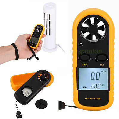 LCD Speed Wind Meter Scale Digital Temperature Anemometer Thermometer