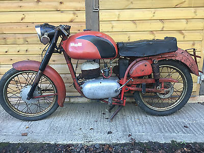Bianchi Mendola GT classic motorcycle barn find project 125cc