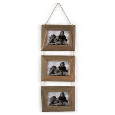 Triple Hanging Wooden Photo Frame