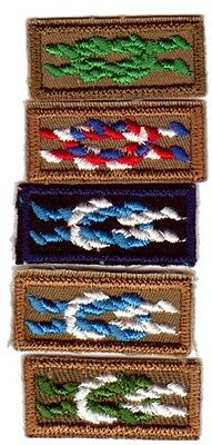 KNOT Scouters INSIGNIA FIVE (5) BOY SCOUT KNOTS OA BSA