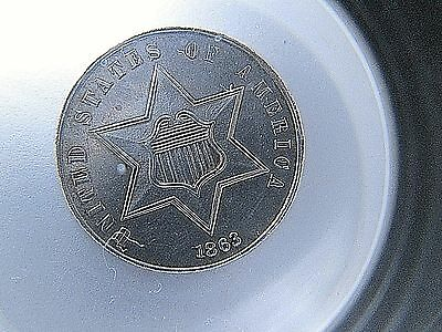 1863 Three Cent Silver 3CS United States Coin