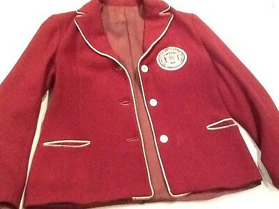 Vintage 1930's Washington College Women's Girls Club Society Sorority Jacket