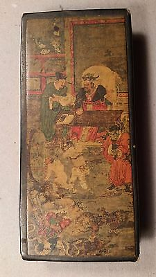 Antique Oriental Matchbox with 3 individual compartments - Handcrafted