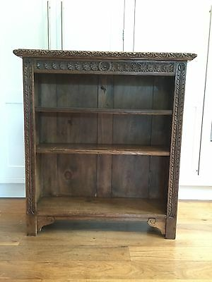 Antique Bookcase. Victorian, Bowman Brothers Ornate, Carved, Open Bookcase.