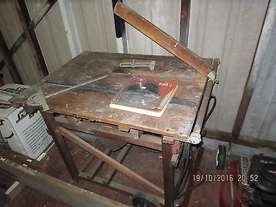 Vintage Woodking Electric Saw Bench with 7 Spare Saw Blades