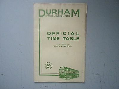 1957 Durham District Services Time Table