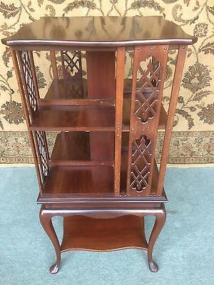 A Revolving Antique Mahogany Bookcase