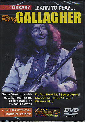 Learn to Play Rory Gallagher Lick Library Guitar 2 DVD Set Michael Casswell