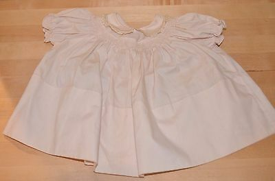 Feltman Brothers Vintage Baby Clothes Dress Off White Cream Ivory 3-6M?