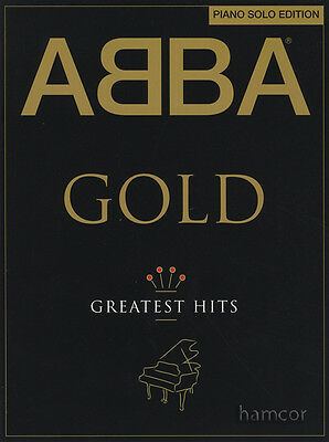ABBA Gold Greatest Hits Piano Solo Edition Sheet Music Book