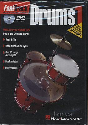 Fast Track Drums 1 DVD Learn How to Play Beginner Method