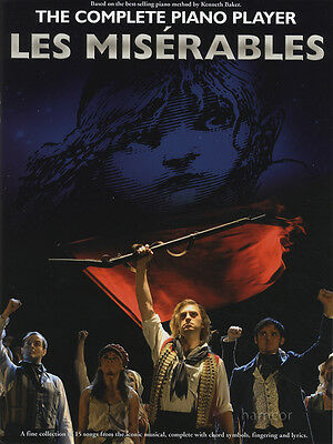 The Complete Piano Player Les Miserables Sheet Music Book