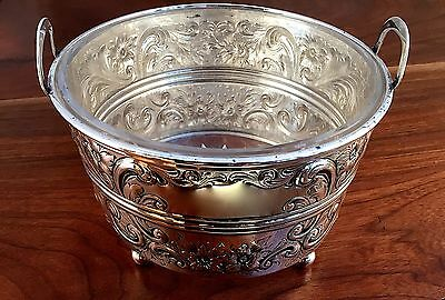 Black, Starr & Frost American Sterling Silver & Etched Glass Ice Bucket No Mono